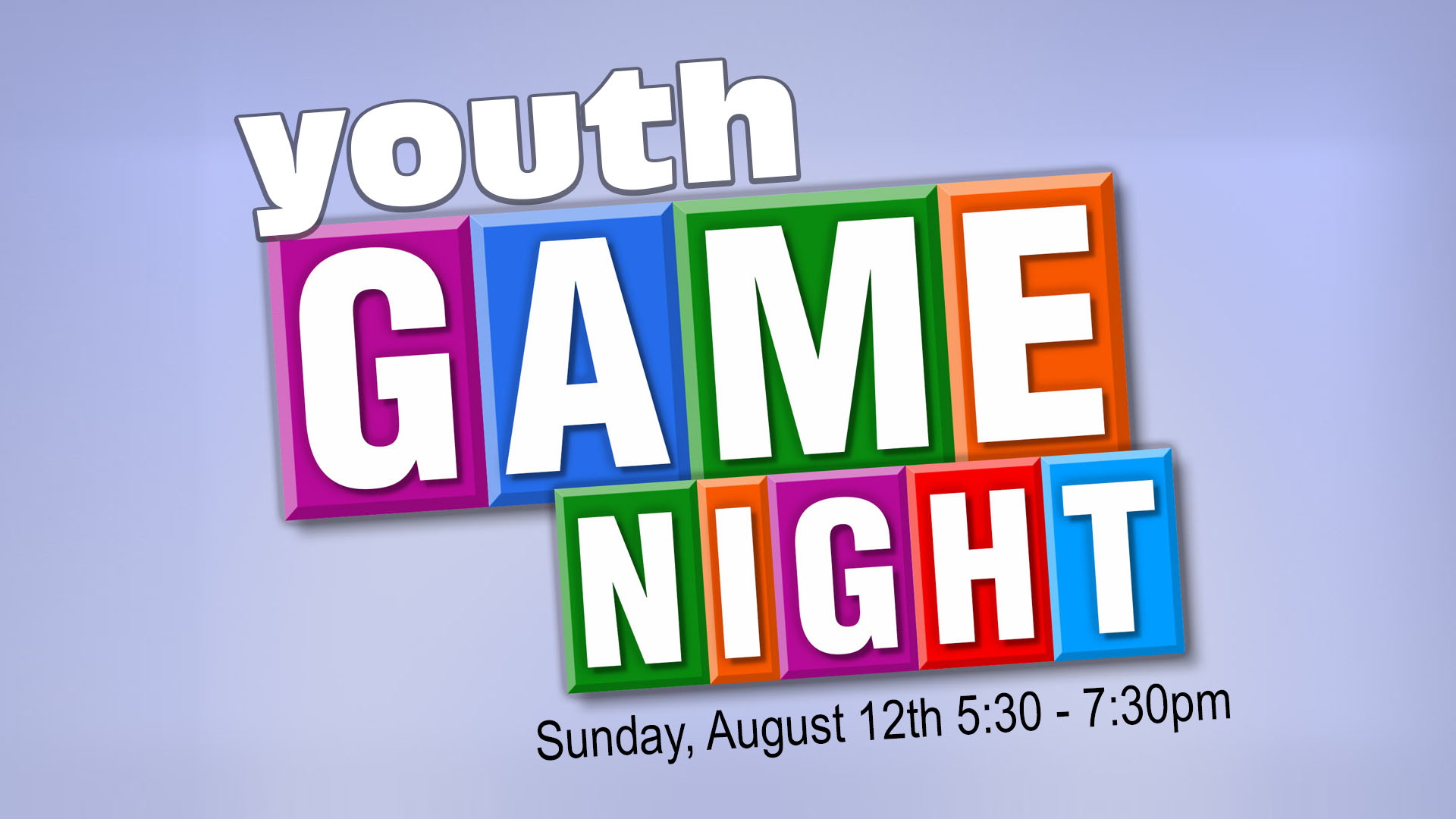 Youth Game Night Brandon Florida August 12, 2018
