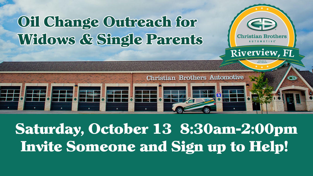 oil change outreach for widows and single parents